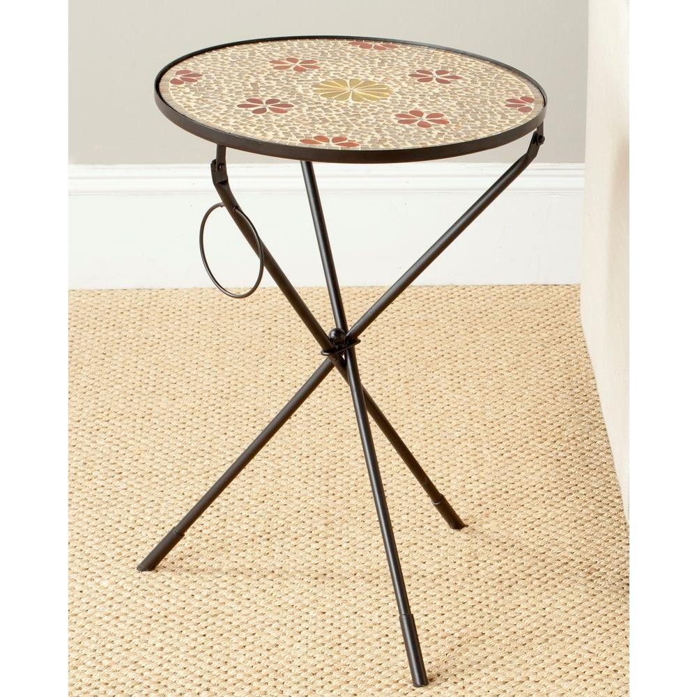 Safavieh Cymbeline Gold Side Table FOX3205A