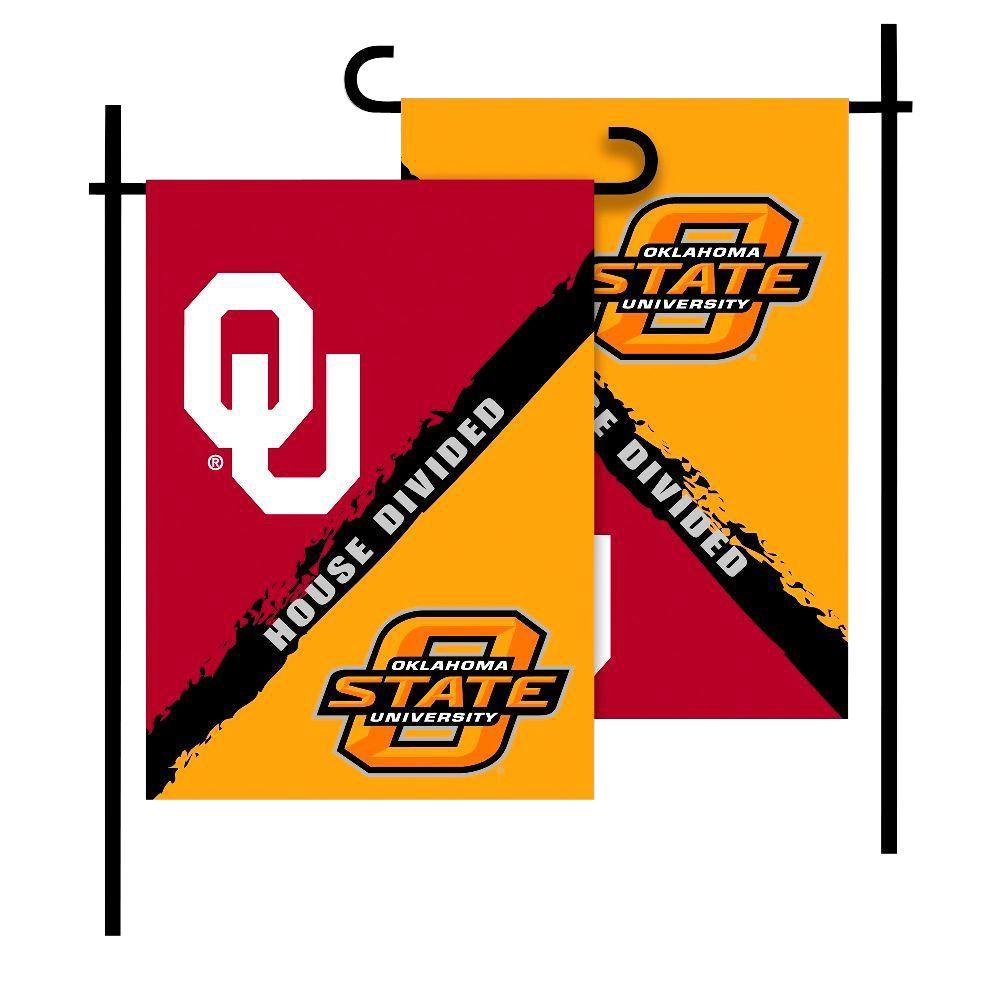 NCAA Oklahoma-Oklahoma State House Divided 1 ft. x 1.5 ft. Collegiate
