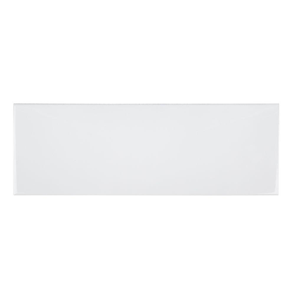 Allegro White Flat 6 in. x 18 in. x 8 mm