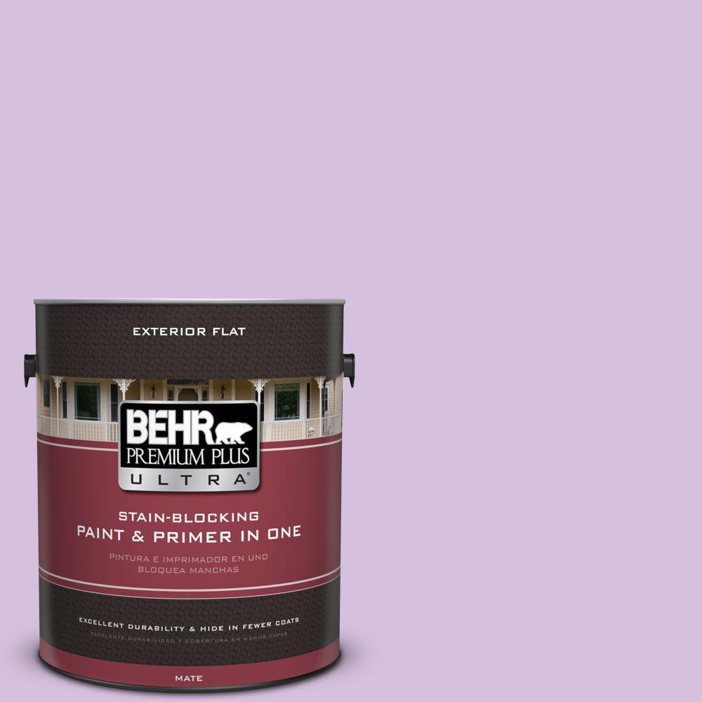 BEHR Premium Plus Ultra 1-gal. #660A-3 New Violet Flat Exterior Paint