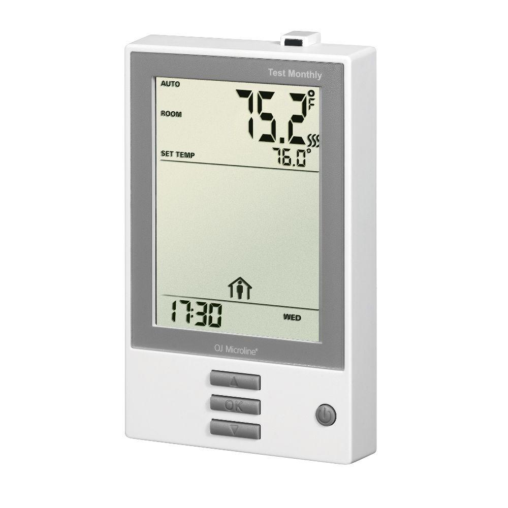 7 Day Intuitive Programmable Thermostat with Floor Sensor for 120 or