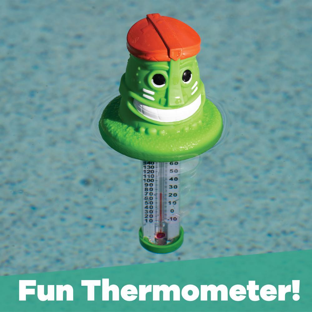 TOMATION Pool Thermometer Niedlich,Floating Pool Thermometer Water Temperature Thermometer with String Swimming Pool Break,Schildkr/öte Eisb/är Flamingo Delphin