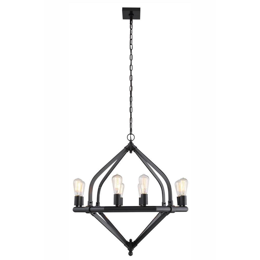 Illumina 8-Light Bronze Pendant Lamp