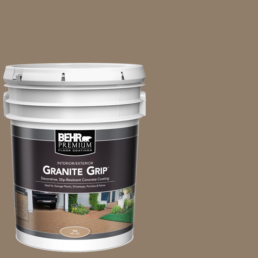 5 gal. #65505 Tan Granite Grip Decorative Interior/Exterior Concrete Floor Coating