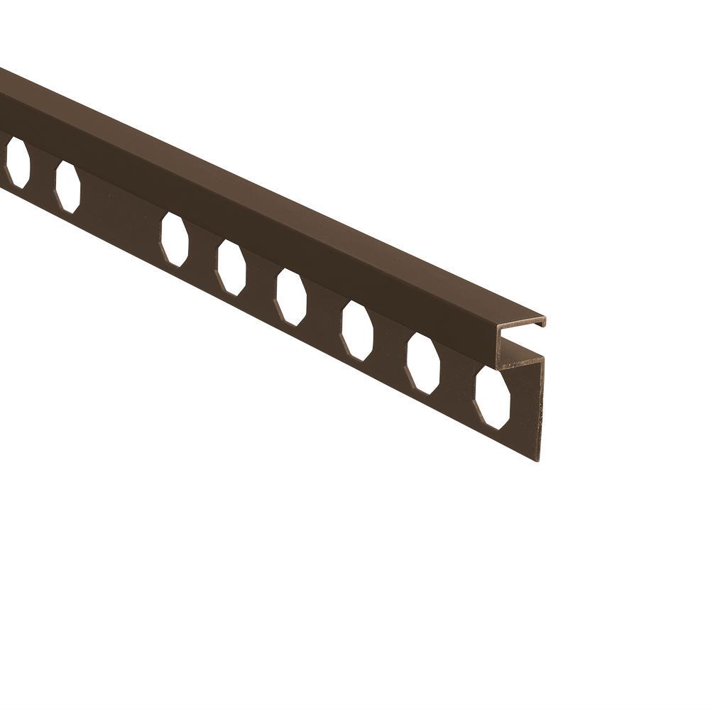 Novolistel 3 Matt Bronze 3/8 in. x 98-1/2 in. Aluminum Tile Edging Trim