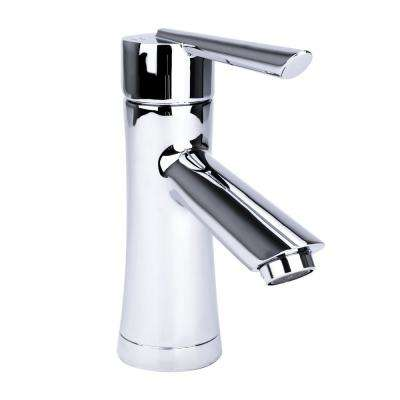Hour Glass Single Hole Single-Handle Bathroom Faucet in Chrome
