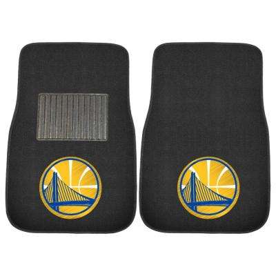 NBA - Golden State Warriors 17 in. x 25.5 in. 2-Piece Set of Embroidered Car Mat