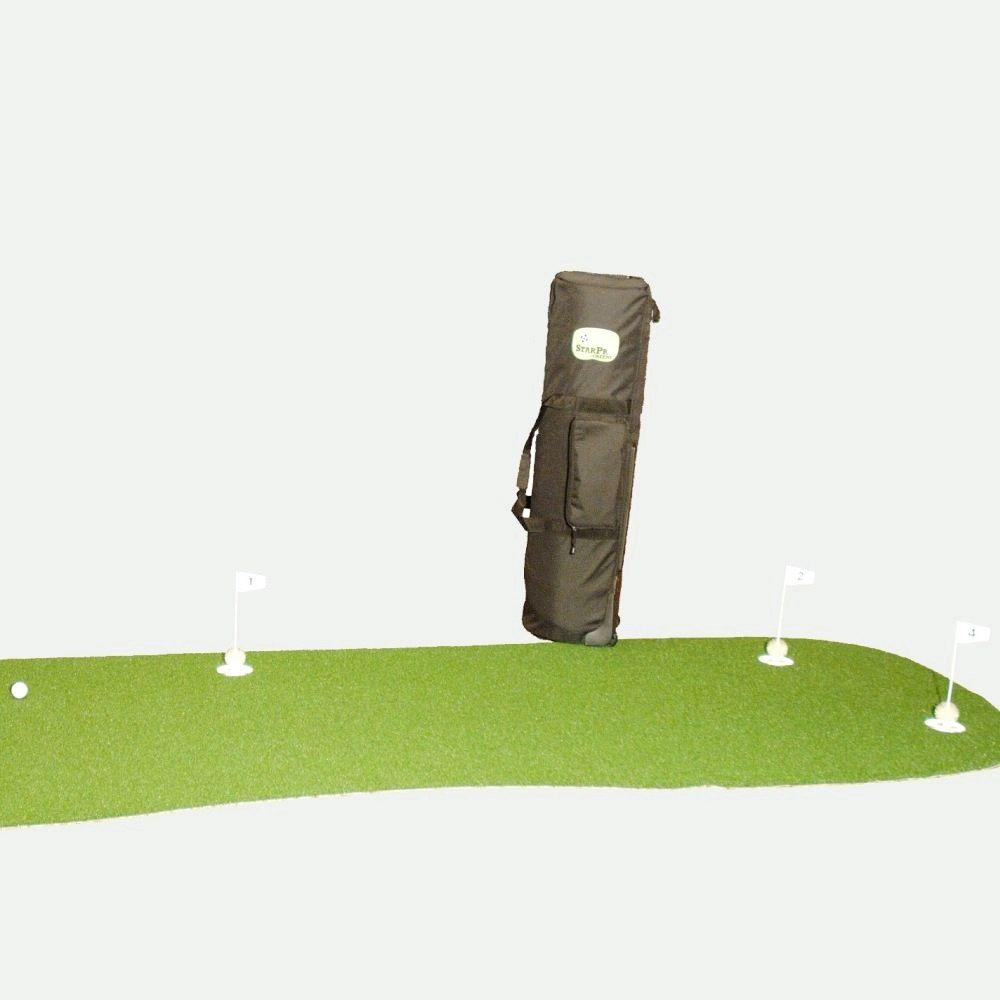 StarPro Greens 4 ft. x 12 ft. Indoor/Outdoor Synthetic Turf 5-Hole Golf Practice Putting Green