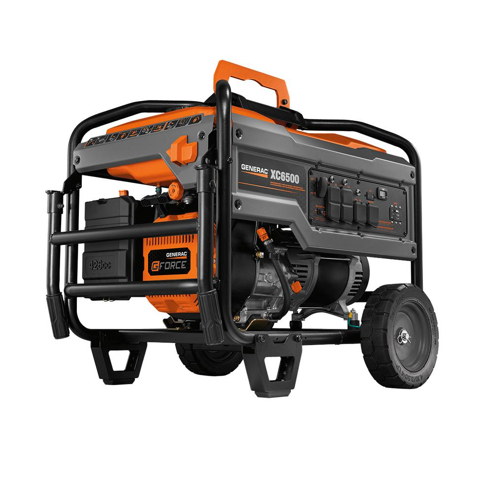 Generac XC 6500-Watt Gasoline Powered Portable Generator, CARB Compliant