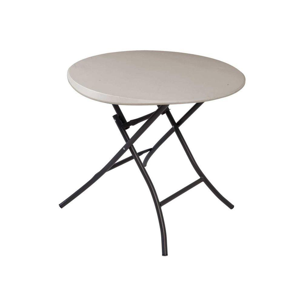Lifetime 33 in. Round Putty Folding Table