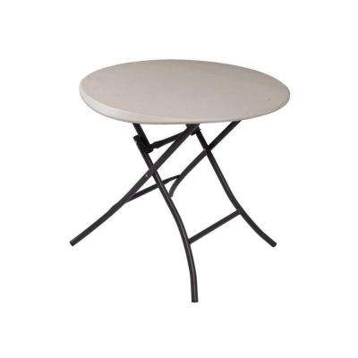 33 in. Round Putty Folding Table