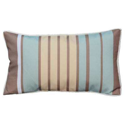 Direct Wicker Luxury Canvas Blue Yellow Striped Rectangular Outdoor Throw Pillow En Dw Cu3 The Home Depot