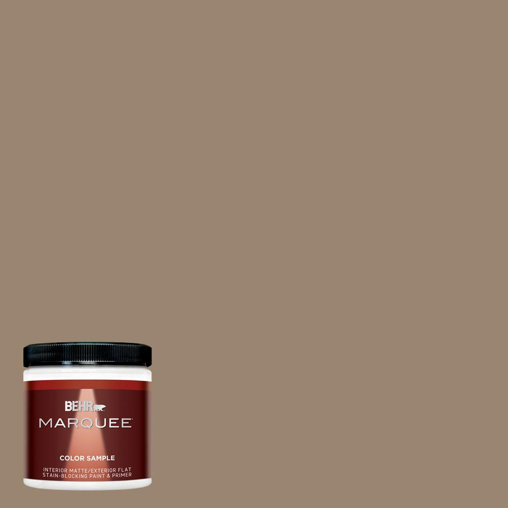 Mq2 48 Sy Brown One Coat Hide Matte Interior Exterior Paint And Primer In Sample