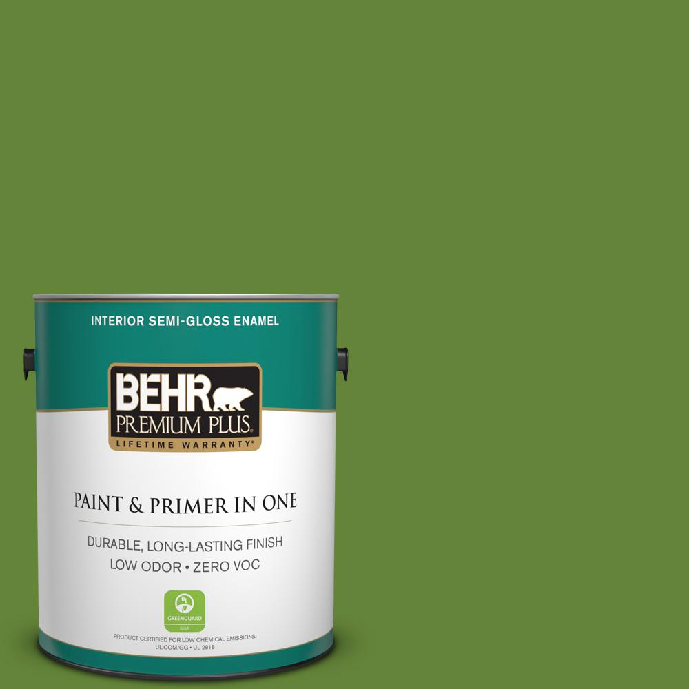 1-gal. #P370-7 Sun Valley Semi-Gloss Enamel Interior Paint