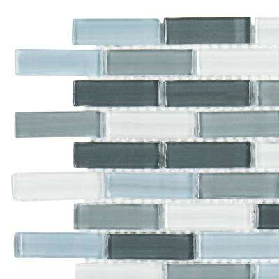 Malibu Breeze 3 in. x 6 in. x 8 mm Glass Mosaic Tile Sample
