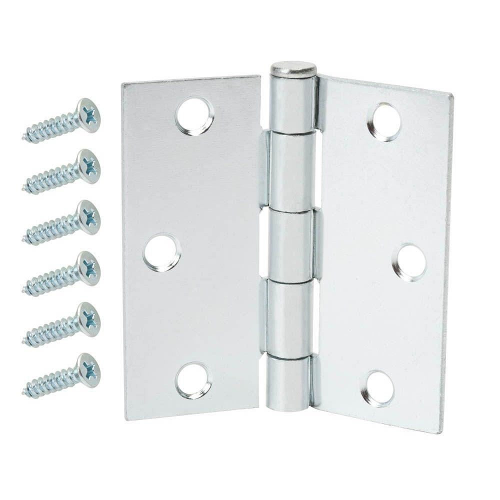 Everbilt 2-1/2 in. Zinc Plated Broad Loose Pin Hinge