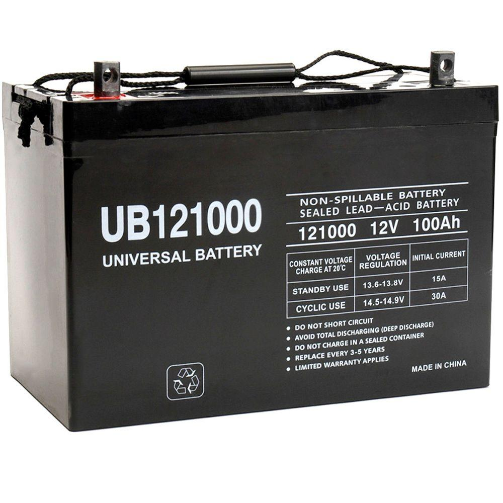 Upg Sla 12 Volt 100 Ah Capacity Z1 Terminal Agm Battery Ub121000 Solar Charger Circuit Can Charge 12v Lead Acid Or