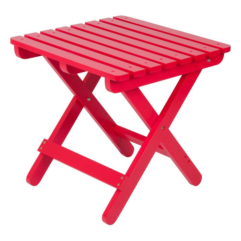 Adirondack Chili Pepper Square Wood Folding Table