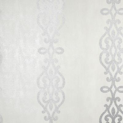 Anaconda Silver Glitter Stripe Wallpaper