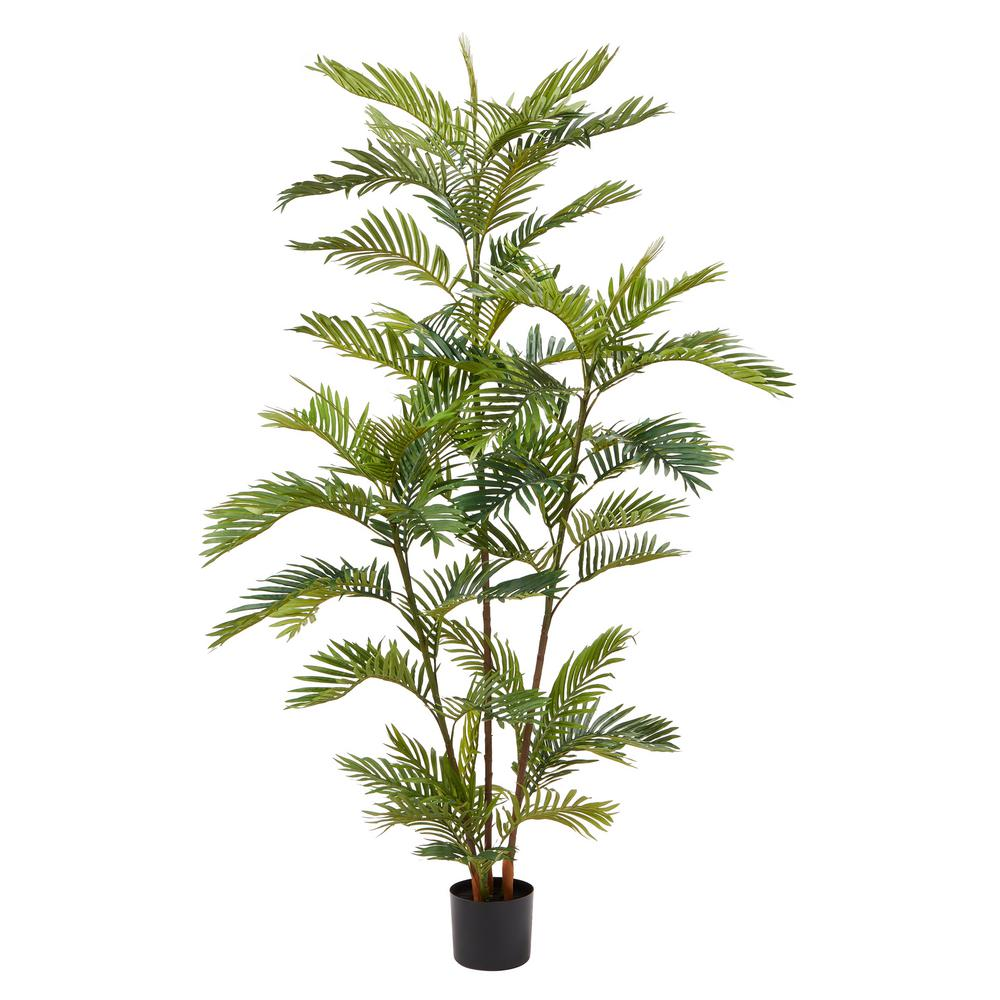 72 in. Artificial Golden Cane Palm Tree