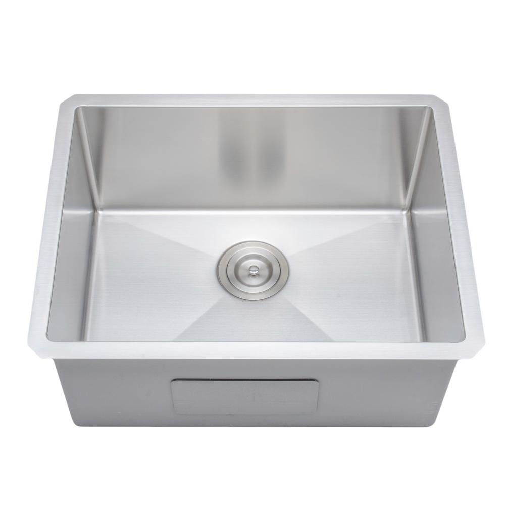 Wells new chefs collection handcrafted undermount stainless steel 23 in single bowl kitchen sink