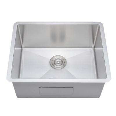 New Chef's Collection Handcrafted Undermount Stainless Steel 23 in. Single Bowl Kitchen Sink