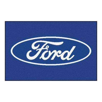 Ford - Ford Oval Blue 2 ft. x 3 ft. Indoor Area Rug