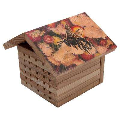 Decorated Cedar Mason Bee House