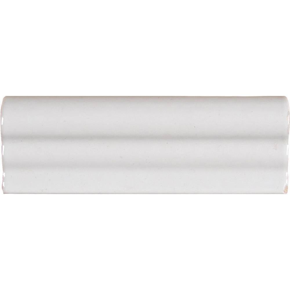 Msi Whisper White Crown Molding 2 In X 6 In Glazed Ceramic Wall