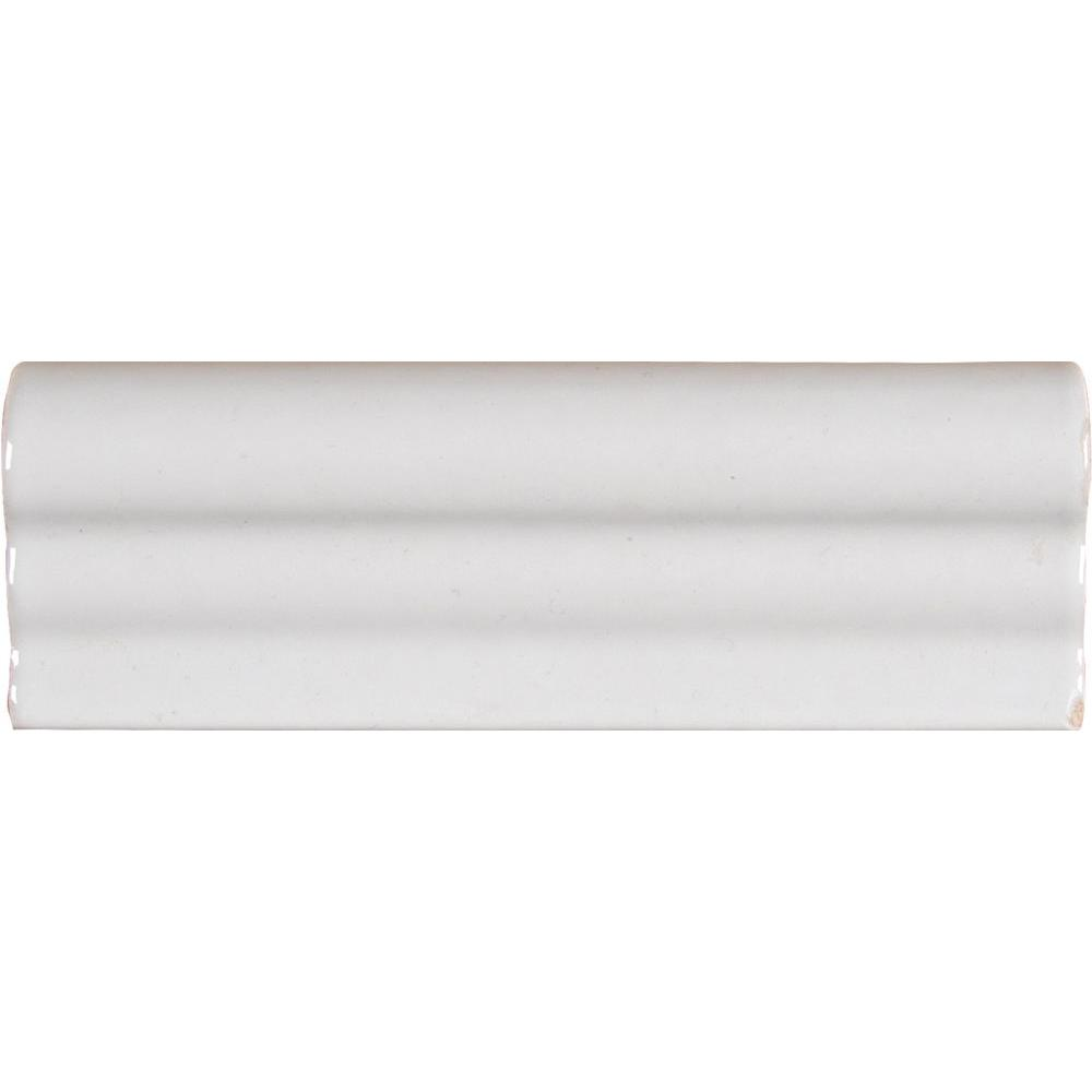 Jeffrey court fresh white 2 in x 6 in ceramic single bullnose glazed ceramic crown molding dailygadgetfo Images