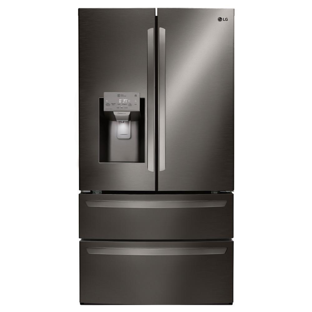 lg electronics 27 8 cu ft french door smart refrigerator with wifi enabled in black stainless. Black Bedroom Furniture Sets. Home Design Ideas