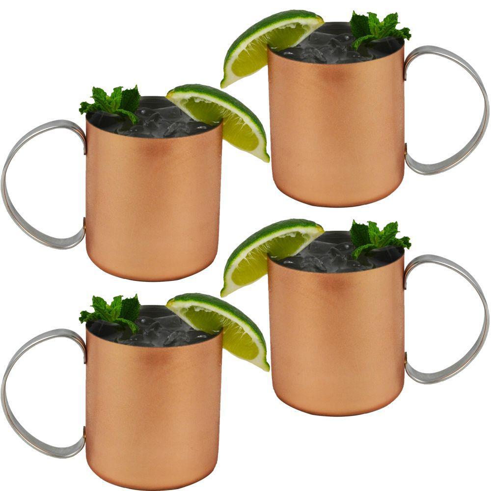 Moscow Mules 12 oz. Copper Mug (Set of 4)