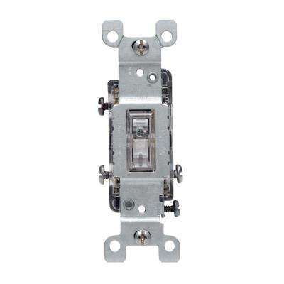 15 Amp 3-Way Toggle Light Switch, Clear