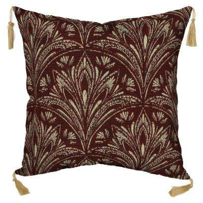 Royal Zanzibar Berry Square Outdoor Throw Pillow with Tassels (2-Pack)