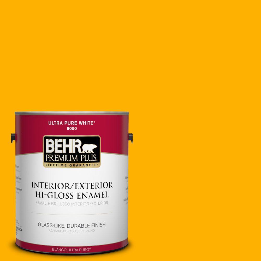 1-gal. #310B-7 Saffron Thread Hi-Gloss Enamel Interior/Exterior Paint