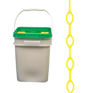 2 In x 300 ft Plastic Chain Yellow