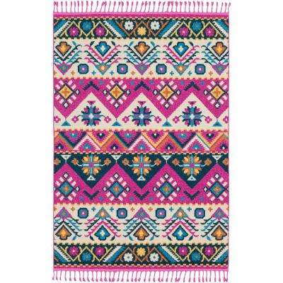 Martela Bright Pink 7 ft. 10 in. x 10 ft. Area Rug