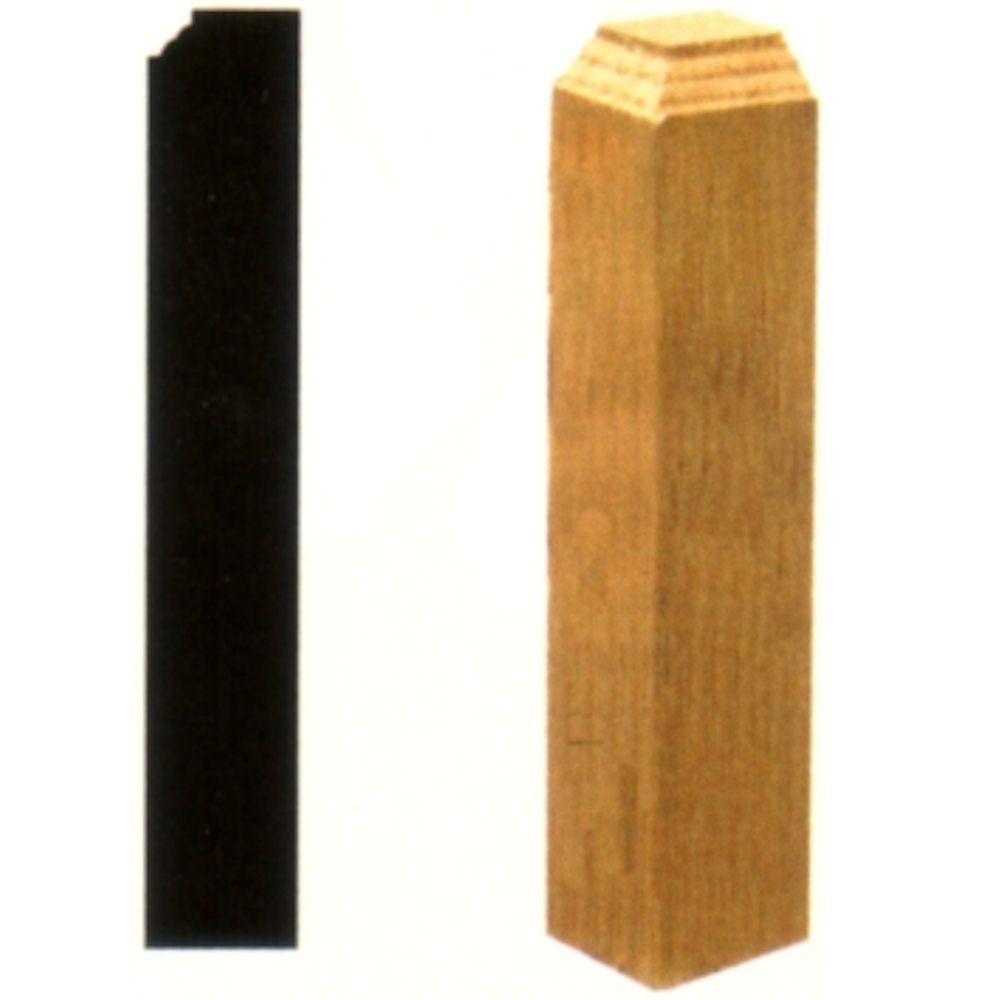 1 in. x 1 in. x 6 in. Oak Inside Corner Block
