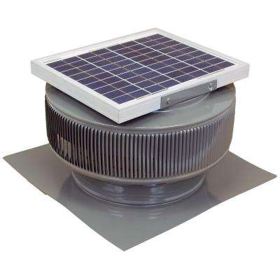 740 CFM Weatherwood Powder Coated 10-Watt Solar Powered 12 in. Dia. Roof Mounted Attic Exhaust Fan