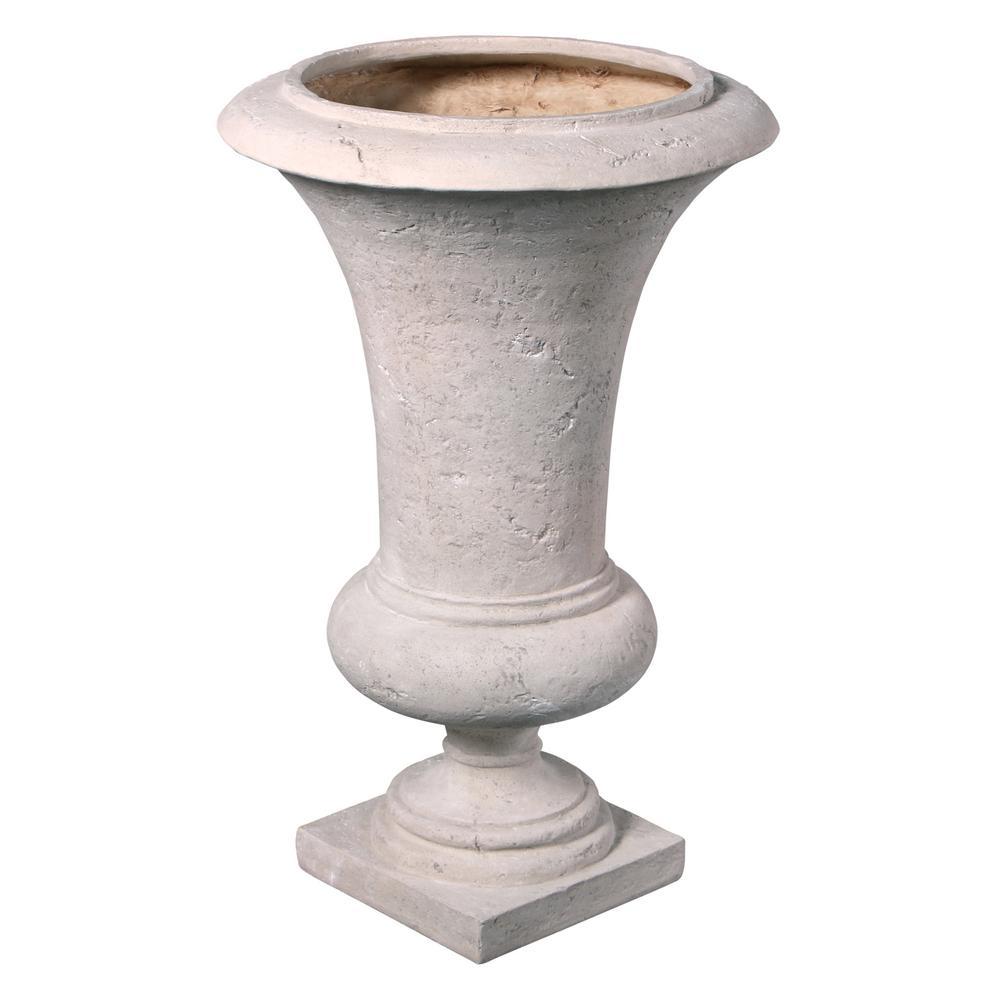 Viennese 32 in. H Medium Ancient Ivory Fiberglass Architectural Garden Urn