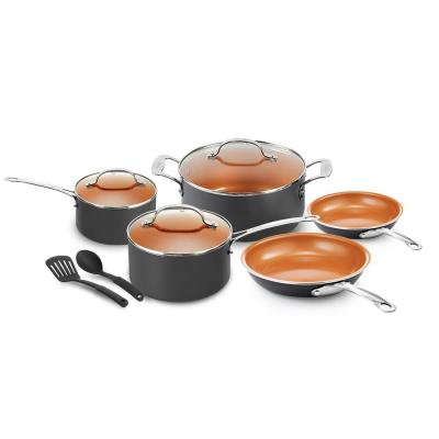 10-Piece Ti-Ceramic Nonstick Coating Cookware Set with Utensils