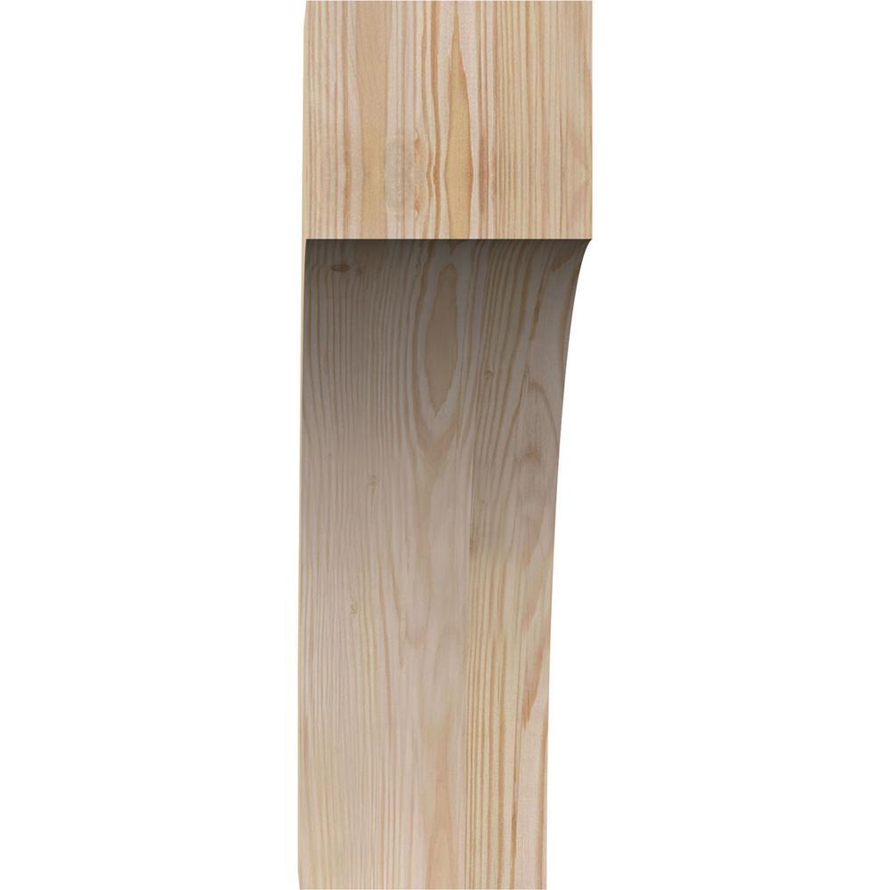 Ekena Millwork 6 In X 20 In X 20 In Douglas Fir Westlake Rough Sawn Brace Brc06x20x20wtl00rdf The Home Depot