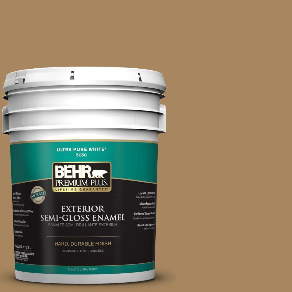 5-gal. #N290-6 Trinket Gold Semi-Gloss Enamel Exterior Paint