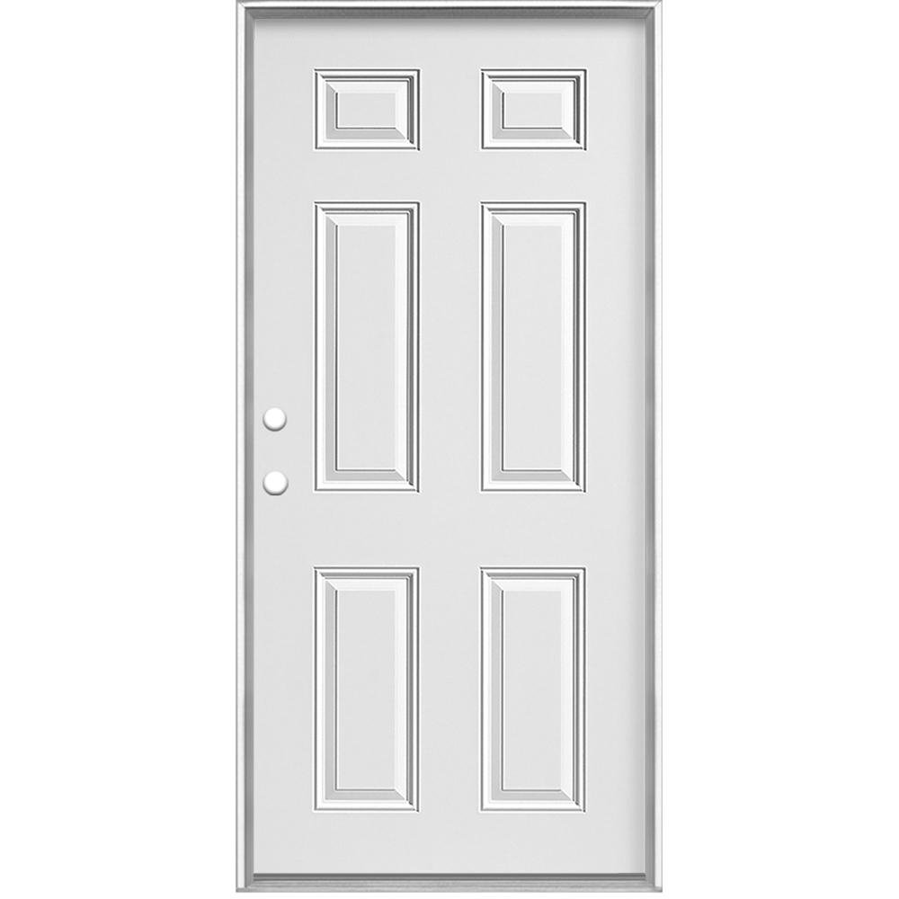 Mobile Home Right Hand Inswing Primed Steel Prehung Front Door No Brickmold