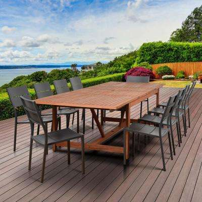 Bryant 11-Piece Wood Rectangular Outdoor Dining Set