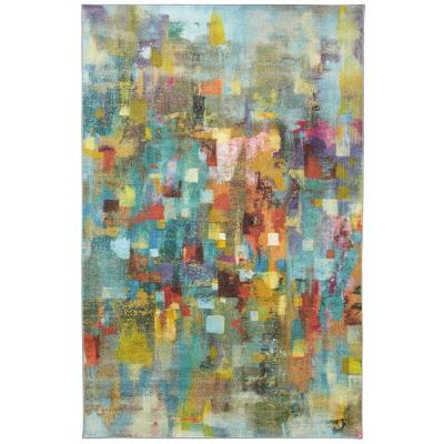 Confetti Canvas Multi 4 ft. x 5 ft. Abstract Area Rug
