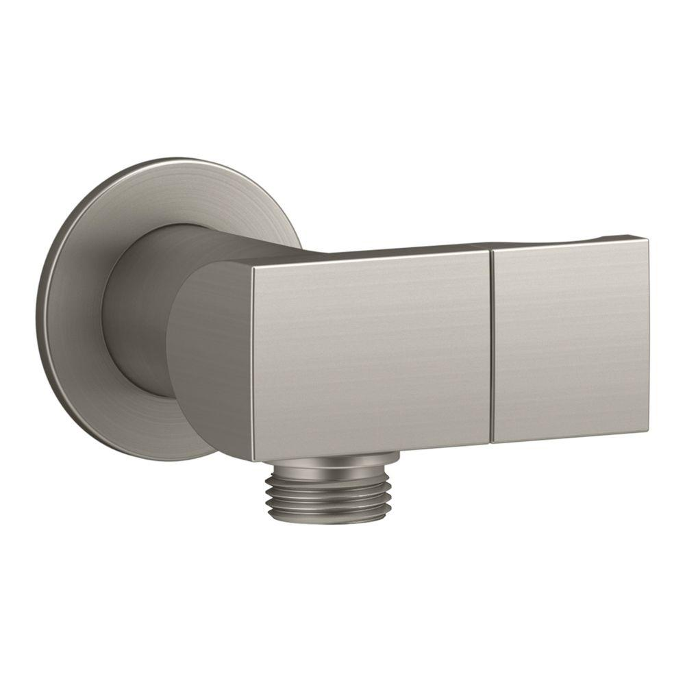 1/2 in. Metal 90-Degree NPT Wall-Mount Supply Elbow with Check Valve