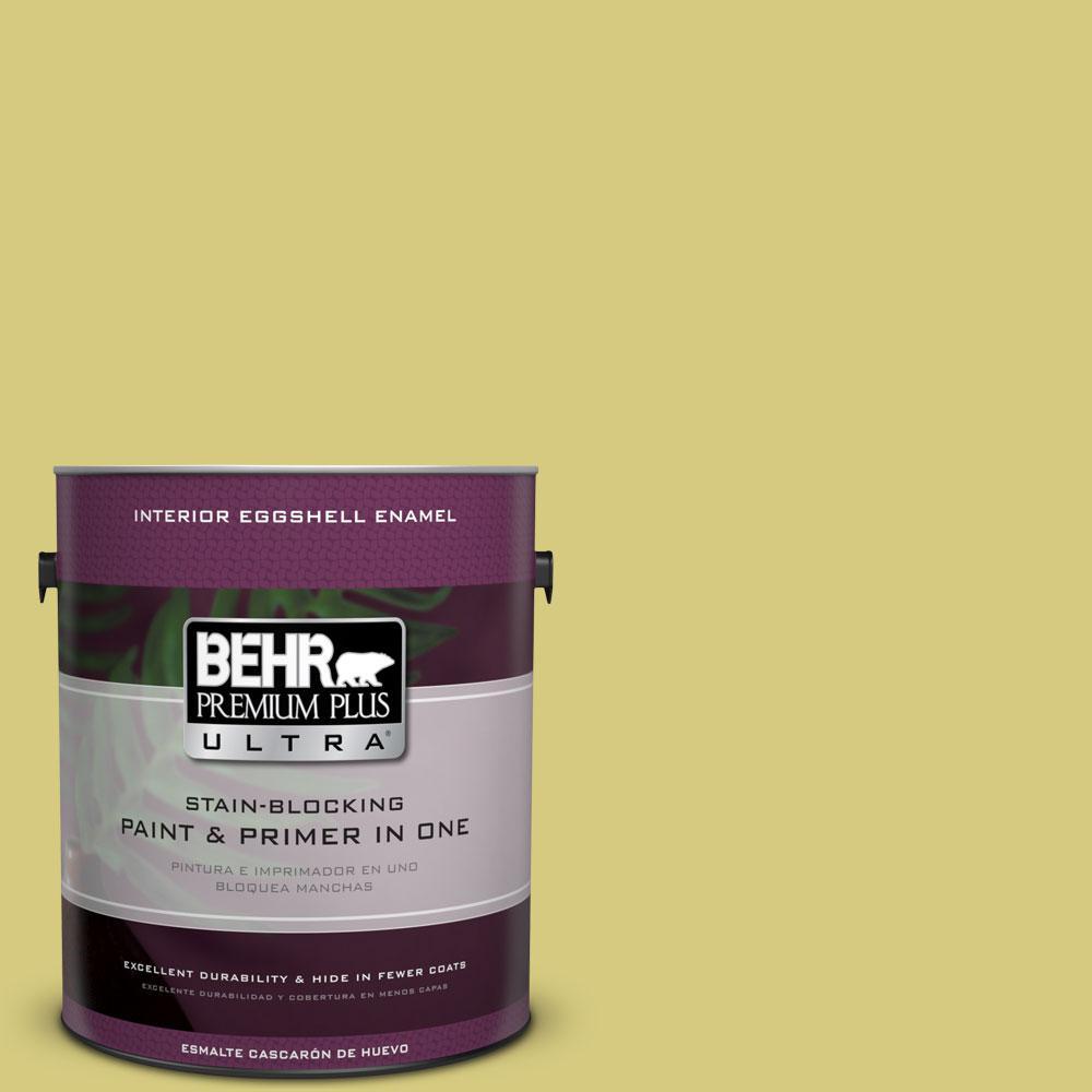 BEHR Premium Plus Ultra 1-gal. #P350-4 Spring Grass Eggshell Enamel Interior Paint