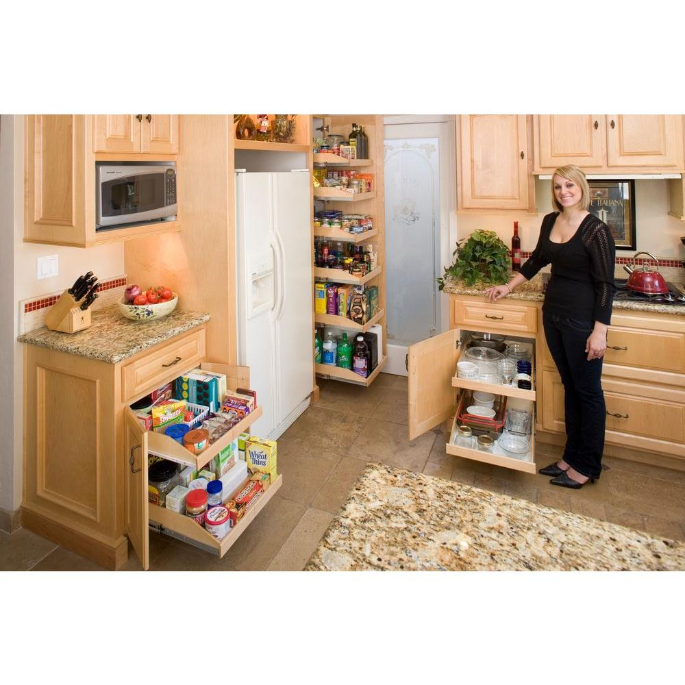 Slide-A-Shelf Made-To-Fit Slide-Out Shelf 6 in. to 36 in. Wide,  Full-Extension, Choice of Wood Front
