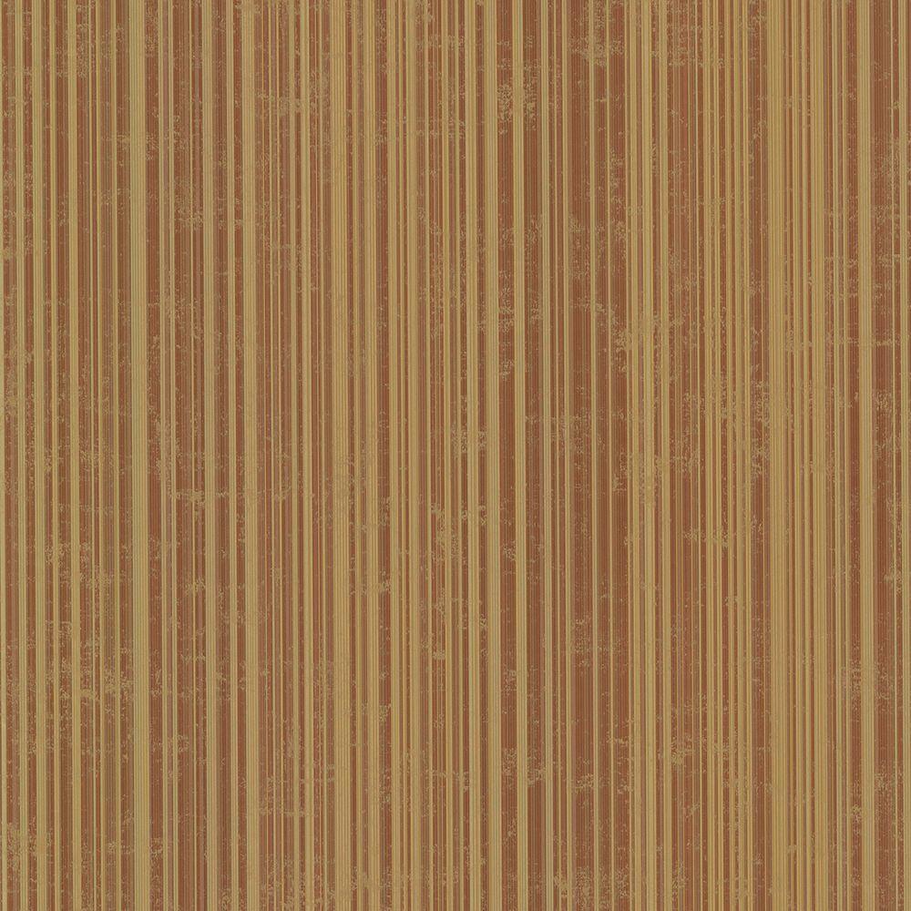 Dylan Burnt Sienna Candy Stripe Wallpaper